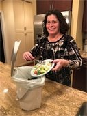 Councilwoman Katz at home recycling food waste